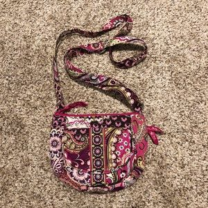 Vera Bradley small crossbody in Very Berry Paisley